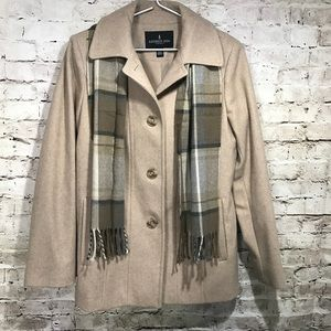 London Fog Jacket Women's Medium Beige